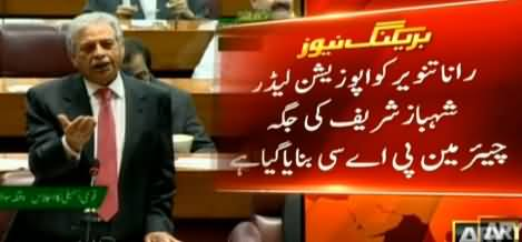 Rana Tanveer Will Be New Chairman of Public Accounts Committee After Shahbaz Sharif