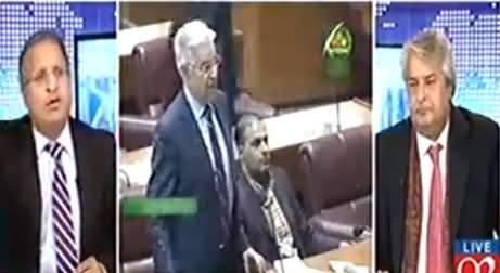 Rauf Klasra Bashing Khawaja Asif Over His Speech In Parliament