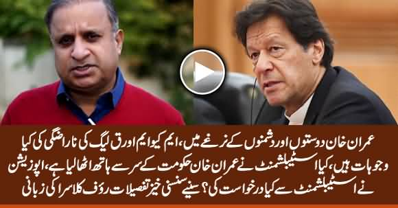 Rauf Klasra Reveals The Actual Reasons of MQM & PMLQ's Differences With PTI Govt