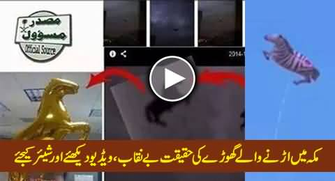 Reality of Flying Horse in Mecca Exposed, Must Watch and Share This Video