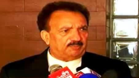 Rehman Malik Requests Imran Khan to End His Dharna Following Dr. Tahir ul Qadri