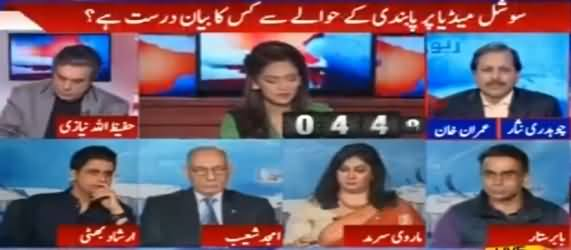 Report Card (PTI & PMLN Statements Regarding Ban on Social Media) - 17th March 2017