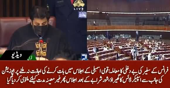 Ruckus in NA As Session Deferred Indefinitely Without Debate on French Envoy's Expulsion