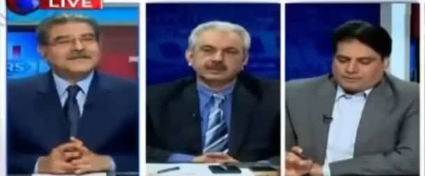Sabir Shakir Grills Talat Hussain for Tweeting Against Reporters Team