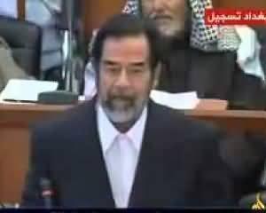 Saddam Hussain Speech in Iraqi Court - Rare Video - The Best Speech Ever by Saddam Hussain