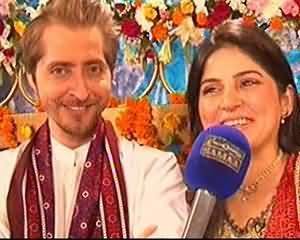 Sanam Baloch and her husband Abdullah first interview on SamaaTV