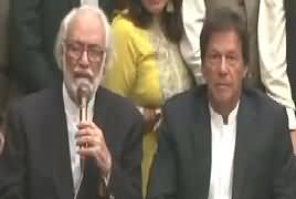 Sardar Asif Ali Press Conference With Imran Khan After Rejoining PTI