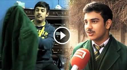 Savior Of Five Students Shahrukh Reached APS Alongwith His Father