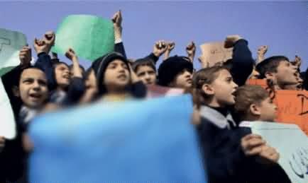 School Kids Join PTI And JI's Dharna At Ring Road Peshawar To Stop NATO Supply