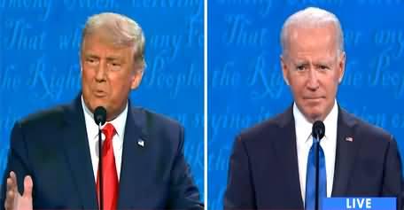 Second 2020 US Presidential Debate Between Donald Trump and Joe Biden