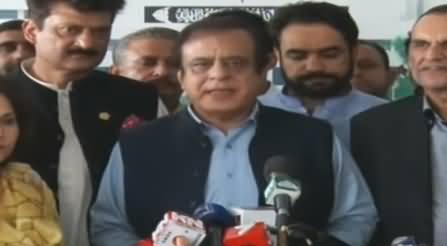 Senator Shibli Faraz Media Talk After Sadiq Sanjrani Survives No-Confidence Motion