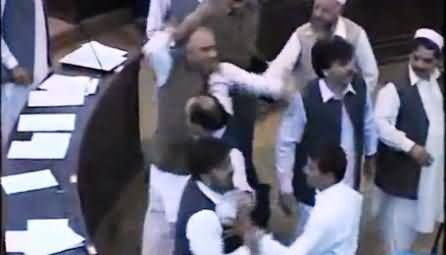 Severe Clash Between PTI and Opposition Members in KPK Assembly