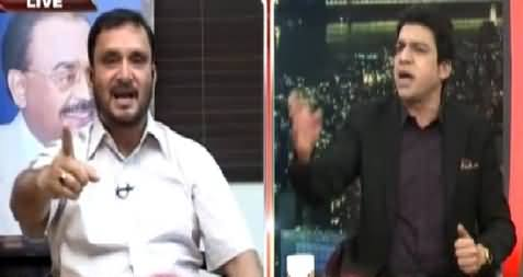Severe Fight Between Faisal Wada (PTI) & Asif Husnein (MQM), Bashing Each Others Leaders