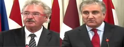 Shah Mehmood Qureshi And Luxembourg's Foreign Minister Jean Asselborn Joint Press Conference