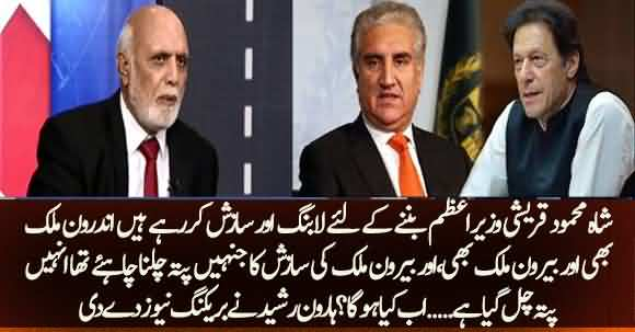 Shah Mehmood Qureshi Is Lobbying Within And Outside Pakistan To Become PM  - Haroon Rasheed