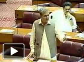 Shah Mehmood Qureshi (PTI) Speech in National Assembly on Islamabad Incident - 19th August 2013