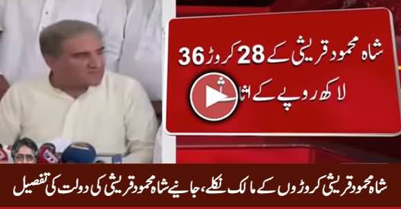 Shah Mehmood Qureshi's Nomination Papers Reveal Assets Worth Millions