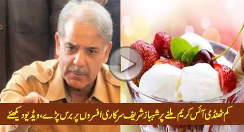 Shahbaz Sharif Got Angry on Officers Due to Serving Melted Ice Cream