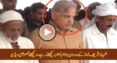 Shahbaz Sharif Namaz Ke Dauran Idhar Udhar Dekhte Rahe, Video Dekhein