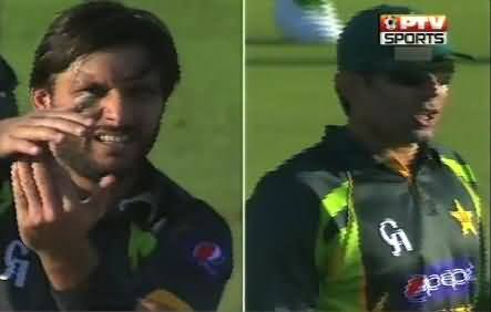 Shahid Afridi Became Emotional While Making An Appeal to Umpire
