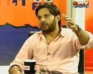 Shahid Afridi Exclusive Interview after Champions Trophy 2013 on PTV Sports