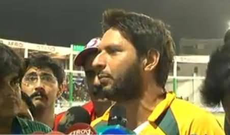 Shahid Afridi Plays Cricket Match For IDPs and Gives an Advice to PMLN Govt