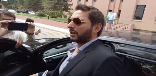 Shahid Afridi Response on Putting Naswar in GHQ on Defence Day