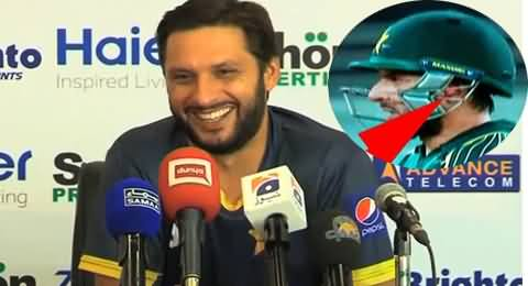 Shahid Afridi Telling Why He Used Earplugs in Matches Against New Zealand