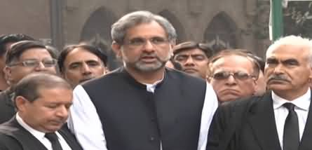 Shahid Khaqan Abbasi And His Lawyers Media Talk - 11th November 2018
