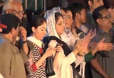Sharmila Farooqi Busy in Using Twitter During Asif Zardari's Speech in Lyari Jalsa