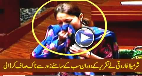 Sharmila Farooqi Openly Cleaning Her Nose with Dupatta During Her Speech