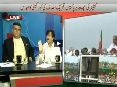 Shaukat Yousafzai Blasts Danial Aziz of PMLN in Live Show on Calling Imran Khan Liar