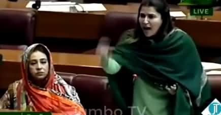 Shazia Mari Ke General Niazi Per Baat Karne Per Assembly Mein Garma Garmi