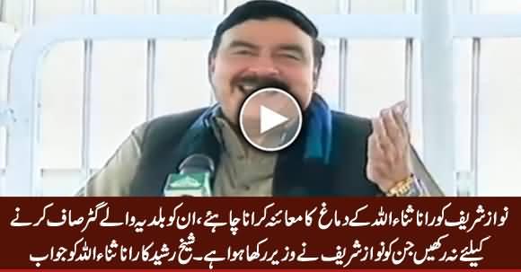 Sheikh Rasheed's Befitting Reply to Rana Sanaullah on His Statement