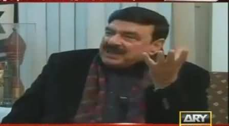 Sheikh Rasheed Behind The Camera Talk During Load Shedding in Live Show