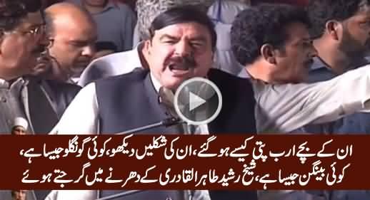 Sheikh Rasheed Blasts on Nawaz Sharif & His Children in Tahir ul Qadri's Dharna