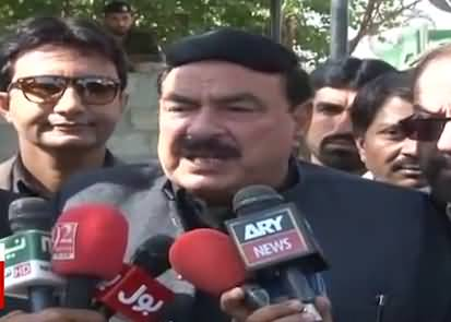 Sheikh Rasheed Media Talk Outside Islamabad High Court - 8th March 2018