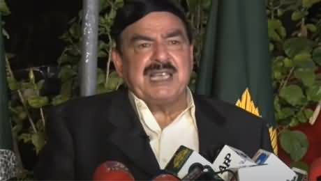 Sheikh Rasheed's Aggressive Press Conference In Reply to Maryam Nawaz