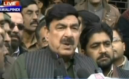 Sheikh Rasheed Talking to Media in Faisalabad - 9th December 2014