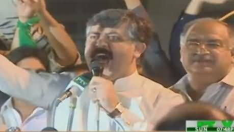Sheikh Waqas Akram Blasting Speech in NA-122 Jalsa Lahore - 4th October 2015