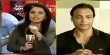 Shoaib Akhtar Got angry on Indian Anchor