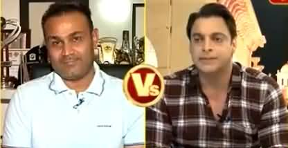 Shoaib Akhtar Taking Class Of Virender Sehwag On Indian Channel