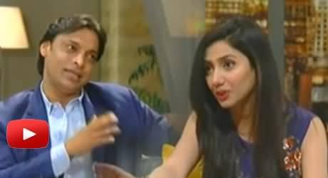 Shoaib Akhtar with Mahira Khan in TUC Lighter Side of the Life With Mahira Khan