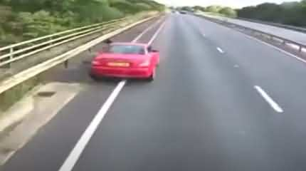 Shocking Video - A Lorry Driver Hit Broken Down Car While Using Mobile Phone In UK