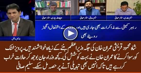Some Ministers Want To Destabilize Government To Gain Major Roles In New Set Up - Saleem Safi