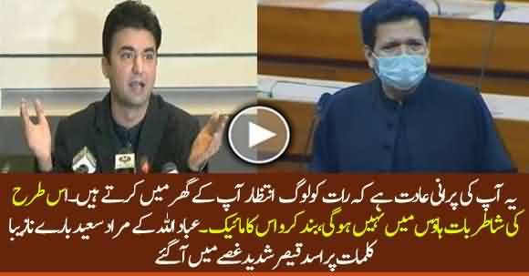 Speaker NA Asad Qaisar Got Furious Over Ibadullah's Derogatory Remarks About Murad Saeed