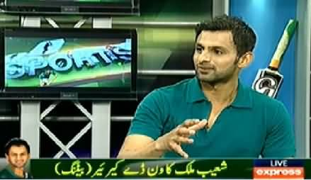 Sports Hour (Shoaib Malik Exclusive Interview) - 25th January 2015