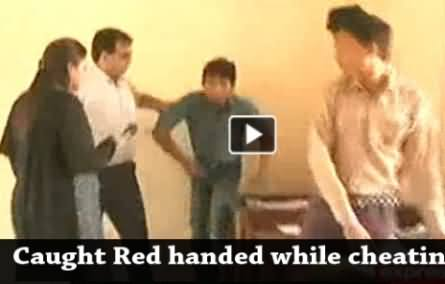 Students Caught Red Handed by Media Team While cheating in Exams