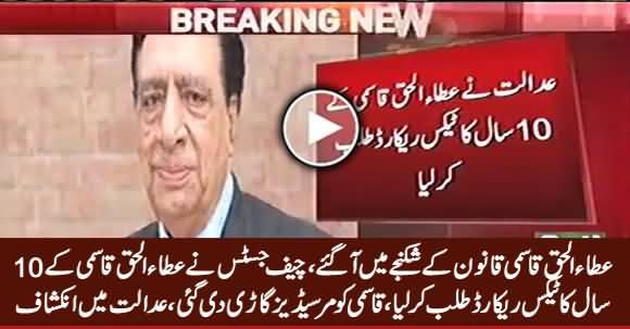 Supreme Court Summons Ten-Year Tax Record of Former MD PTV Ataul Haq Qasmi