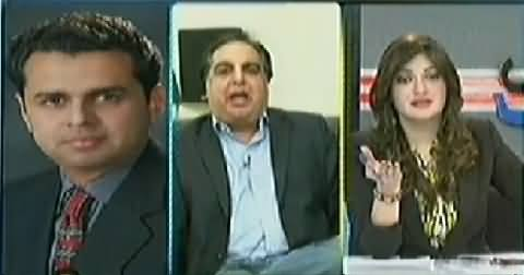 Talal Chaudhary Threatening Imran Ismail (PTI) In Live Show on PTI Lock Down Call
